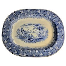 Blue and White Transfer Platter, 1860