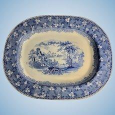 Blue and White Transfer Platter, 1860