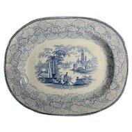 C.1870 English Transfer Ware Platter
