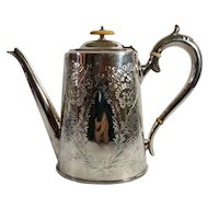 Vintage English Silver Platted Coffee Pot
