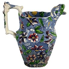 English Transfer Ware Jug  C.1860-1880