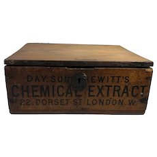 Day.Son & Hewitt's Chemical Extract Wood Box, London
