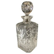 English Cut Glass Decanter