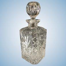 English Cut Glass Decanter