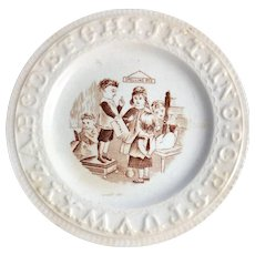Child's English ABC Plate