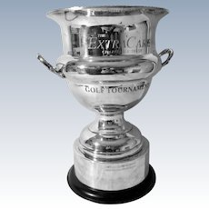 English Silver Plate Golf Tournament Trophy