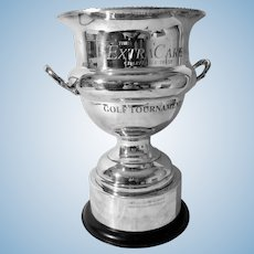 English Silver Plated Golf Tournament Trophy