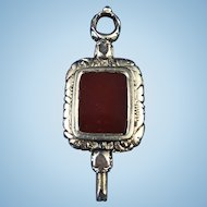 Victorian Carnelian 9 ct Gold Filled Watch Key