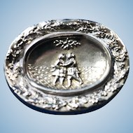 English Silver Plate over Copper Brooch