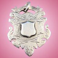 English Silver Watch Fob, 1924