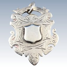 English Silver Watch Fob, 1924