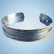 English Sterling Silver Buckle Bracelet