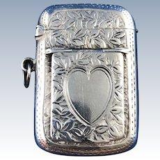 1905 English Sterling Silver Vesta