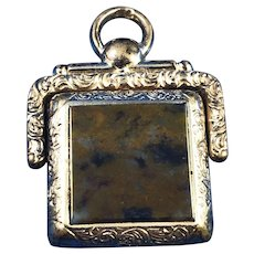 English 8 ct Gold Swivel Watch Fob