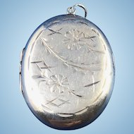 English Sterling Silver Locket
