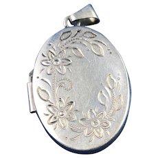 Vintage English Silver Locket