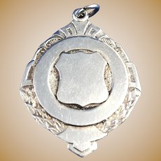 English Sterling Silver Watch Fob