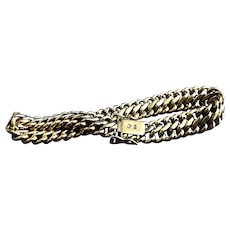 English 14 K ,  3/8 inches wide by 8 inches long  Gold Bracelet .