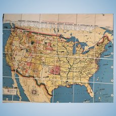 12 of The Tryon Illustrated American History Maps, in a Boxed Set, Each Map 41 x 49 Inches