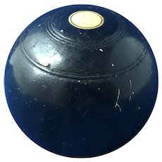 Vintage Small English Lawn Bowling Ball