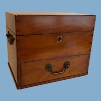 English Mahogany Medical Medicine Chest, c. 1825
