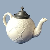 English Stoneware Tea Pot 1868