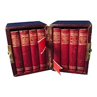 The Illustrated Pocket Shakespeare, 8 volumes and Leather Box