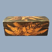 English Fern Ware Box, C. 1850-1900