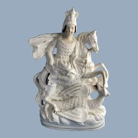 Staffordshire Figurine of St George Slaying a Dragon