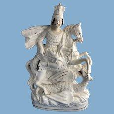 Staffordshire Figurine of St George Slaying a Dragon