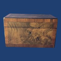 19th Century Burr Walnut Double Tea Caddy