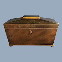 19th Century Walnut Double Tea Caddy