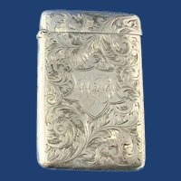 Victorian Sterling Silver Card Holder, Birmingham, 1901