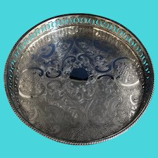 English Silver Plated Salver.  C.1930