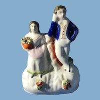 English Staffordshire Figurine, Garden Scene
