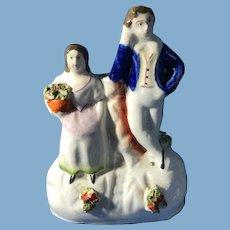 English Staffordshire Figurine, Garden Scene