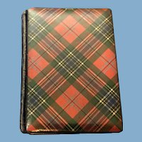 Victorian McLean Tartan Ware Daily Appointment Booklet