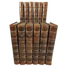 The Complete Works of Lord Macaulay, 12 Volumes, Leather Bound, 1906