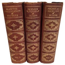 3 Novels by Charles Dickens: Nicholas Nickleby, Martin Chuzzlewit, Pickwick Papers