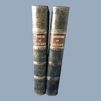 Two Leather Bound Books: Women of England; Daughters of England by Mrs. Ellis