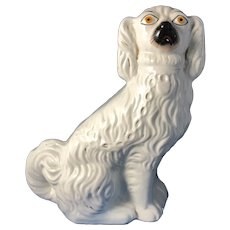 C.1860 English Spaniel Staffordshire Figurine