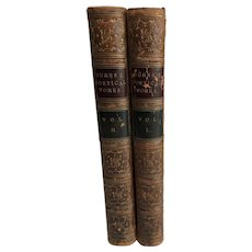 The Poetical Works of Robert Burns, Two Volumes, Leather Bound, 1864