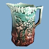 English Majolica Pitcher, C. 1880