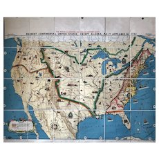 Tryon Illustrated American History Map: Continental United States As It Was In 1754, 41 x 49 inches