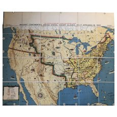 Tryon Illustrated American History Map: Continental United States As It Was in 1829, 41 x 49 inches