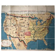 Tryon Illustrated American History Map: Continental United States As It Was In 1861, 41 x 49 inches