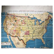 Tryon Illustrated American History Map: Continental United States As It Was In 1893, 41 x 49 inches