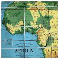 Weber Costello Semi-Contour Political Physical Map of Africa, 38.5 x 49 inches