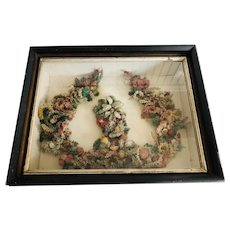 Antique C. 1880  Floral Wreath