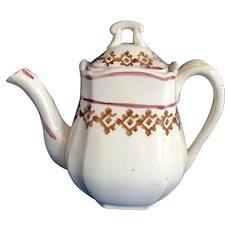 Children's Staffordshire Stick Decoration Teapot. C.1880